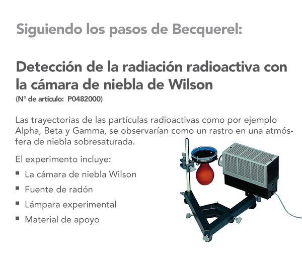 Detection of radioactive radiation with the Wilson cloud chamber