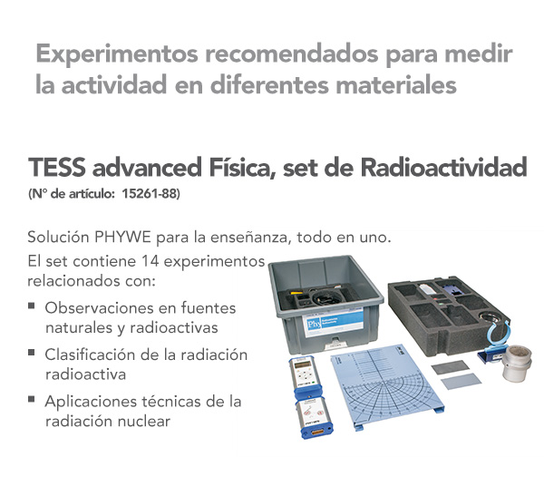 TESS advanced Física Set Radioactividad